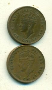 2 OLDER 1 CENT COINS from NEWFOUNDLAND DATING 1941 & 1943