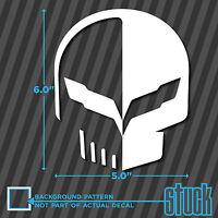 """C7 Jake Skull - 5"""" x 6"""" - vinyl decal sticker corvette vette c7 c6 c5 z06 z07"""