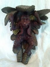 Maitland Smith Style ORNATE MONKEY SHELF WITH PALM TREE
