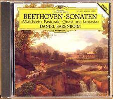 "DGG CD DIGITAL UK Beethoven BARENBOIM Sonatas ""Waldstein"", ""Pastorale"" 423 577-2"