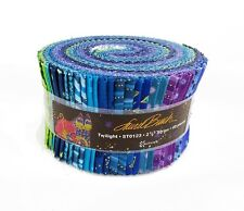 "Laurel Burch Basics Twilight Fabric Jelly Roll Quilt strips 2.5"" w, felines"