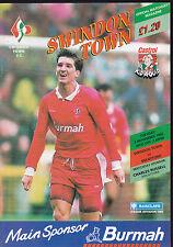 1992/93 SWINDON TOWN V BRENTFORD 03-11-1992 Division 1