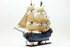 Black Pearl Pirate Tall Ship Handmade Wooden Ship Model 32""