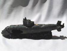 """Aquarium Fish Tank Submarine Wreck 12"""" 30cm Resin Hollow"""