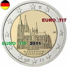 2  €   ALLEMAGNE    1   x   PIECE  NEUVE    COLOGNE     2011   /    ASSEZ  RARE