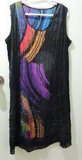 TS BLACK/ PURPLE/ RED/GREEN.. TUNIC /DRESS SIZE 14, POLYESTER