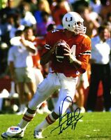 VINNY TESTAVERDE SIGNED AUTOGRAPHED 8x10 PHOTO UNIVERSITY OF MIAMI PSA/DNA