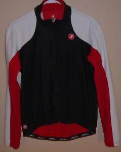 CASTRELLI Men's Black/Red cycling Jacket size XL