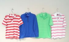 Lot 4 Nike & FootJoy Men's Polo Shirts Size Medium Dri-Fit Golf Blue Therma-Fit