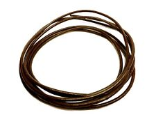 120cm long BROWN 2mm Round GENUINE LEATHER cord Bracelet Necklace choker lacing