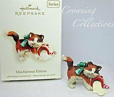 2008 Hallmark Mischievous Kittens Keepsake Ornament Calico Cat 10th Series Milk