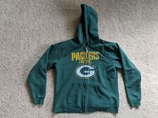 Green Bay Packers WOMEN'S M medium Zip Up Hoodie Hooded Sweatshirt