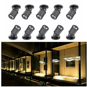 10x 1W Recessed Mini Spotlight Lamp Mounted LED Ceiling Downlight Light Fixture