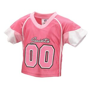 New Orleans Saints Official NFL Apparel Baby Infant Girls Size Pink Jersey New