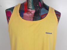 Vintage 90s Reebok Yellow Sleeveless Tank Top Size Xl Made In Usa