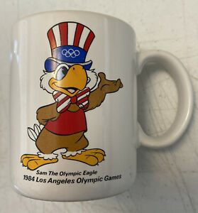 Vintage Papel 1984 Los Angeles Olympic Games Coffee Mug Sam the Eagle
