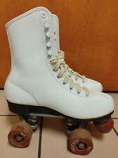 Vintage Womens White Chicago 76 Roller Skates  Size 6