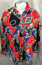 VIntage 90's Wrangler Western Wear (XL) Button Up Cowboy Cut Graphic Shirt Red