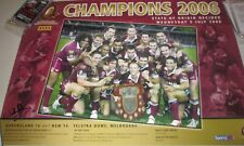 Darren Lockyer signed Queensland State of Origin 2006 Champions Poster + COA