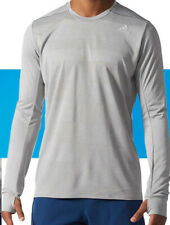 size small - adidas supernova running t shirt long sleeve - grey - s97993