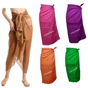 New 100 % COTTON Sarong Beach cover up Light weight scarf wrap Summer Holiday