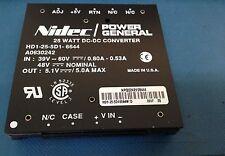 HD1-25-5D1-6644W ,25 WATT DC-DC CONVERTER IN:39V-60V 0.80A-0.53A OUT 5.1V-5.0A