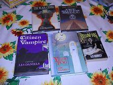 SILVER SKULL Black Castle  CITIZEN VAMPIRE Les Daniels YELLOW FOG SIGNED 1ST Eds