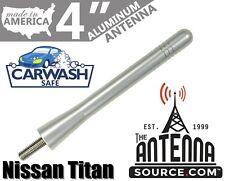 "**SHORT** 4"" ALUMINUM SILVER ANTENNA MAST-FITS: 2019-2020 Nissan Titan"