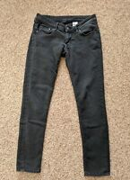 H&M Women's Super Skinny Super Low Waist Jeans SIZE 28/30 Faded Black