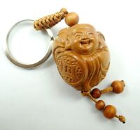 33*31MM Hand-carved Buddha Wooden Crafts, Key Chain, Key Ring  Lover Gift GG5