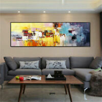 CHOP1468 100% handmade painted long abstract oil painting wall art on canvas