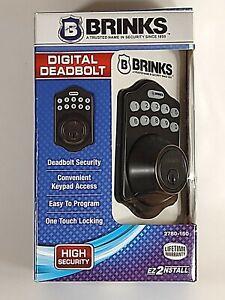 NEW Brinks 2780-150 Digital Keypad Electronic Deadbolt - Bronze