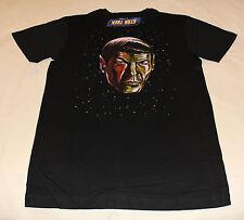Star Trek Spock Mens Black Cotton Printed Short Sleeve T Shirt Size XL New
