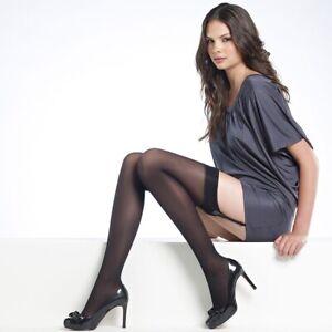 Levante Suede Matte 50 Denier Stockings Black Small