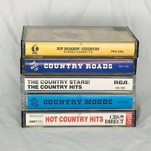 Lot of 5 Classic Country Mix Compilation Cassette Tapes Music Stereo Audio