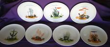 "Vintage Blakely Gas & Oil Arizona Cactus 10"" Dinner Plates Set of 7 Missing One"