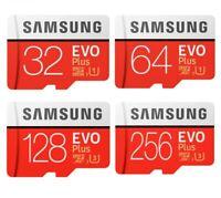 Samsung EVO Plus Micro SD Memory Card 128GB 32GB Class10 SDHC SDXC & SD Adapter