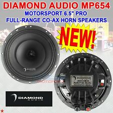 "Diamond Audio Mp654 Motorsport Series 6.5"" Pro Full-Range Co-Ax Horn Speakers"