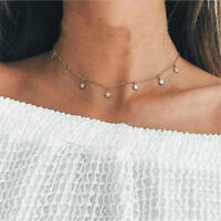 Women Choker Star Pendant Gold/Silver Simple Chain Necklace Jewelry Gifts