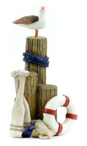 Driftwood Nautical Scene w Seagull 1pc  MI 55904 Miniature Fairy Garden Beach