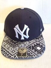 1aa2f6e3d47ce New York Yankees 47 Brand MLB COOP Moroc Fitted Hat Size 7 Black
