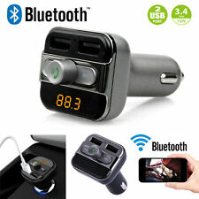2019 Bluetooth Car Kit Wireless FM Transmitter Dual USB Charger Audio MP3 Player