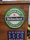 Heineken Beer Bottle Cap Advertising Picture/Sign 35CM Metal sign Large