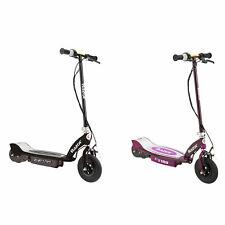 Razor E100 Kids Motorized 24V Powered Ride On Scooter, Black & Purple (2 Pack)