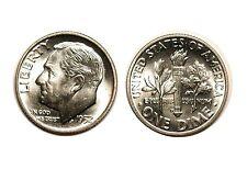 1952-D Silver Roosevelt Dime - Gem BU FB , Full Split Bands #860