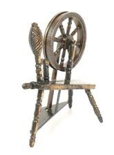 Vtg Durham 70s Miniature Spinning Wheel Dollhouse Metal Furniture Tiny 1976 RARE