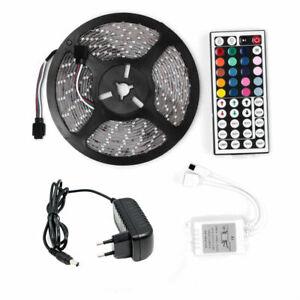 5M 5050 SMD RGB LED Stripe 600LEDs Streifen Band Licht Lichterkette Streifen