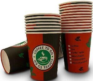 1000 Stk. 4 oz für 100 ml Coffe to go Becher Pappbecher Kaffebecher