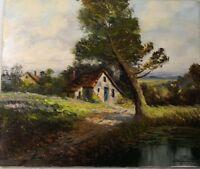 la mer PLASSARD XXème peinture ancienne artiste peintre vintage tableau ancien