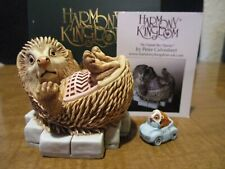 New Harmony Kingdom Road Hog Hedgehog Uk Made Marble Resin Box Figurine Sgn